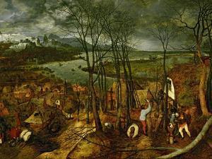 The Gloomy Day, Spring, 1559 by Pieter Bruegel the Elder