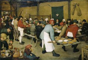 The Peasants' Wedding by Pieter Bruegel the Elder