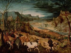 The Return of the Herd (Autumn) 1565 by Pieter Bruegel the Elder