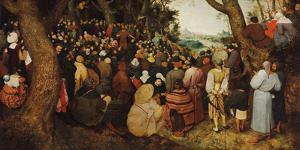 The Sermon Of Saint John The Baptist by Pieter Bruegel the Elder