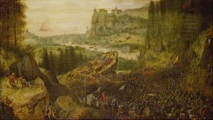 The Suicide of Saul in the Battle on Mount Gilboa. (1562) by Pieter Bruegel the Elder