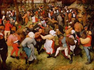 The Wedding Dance, C.1566 (Oil on Panel) by Pieter Bruegel the Elder