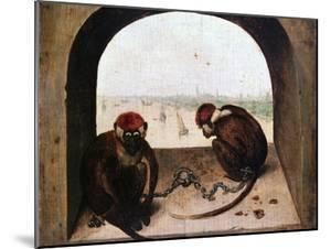 Two Monkeys, 1562 by Pieter Bruegel the Elder