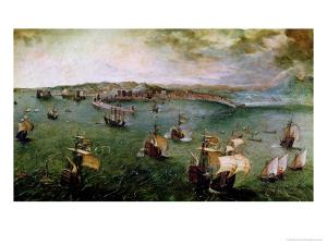 View of the Port of Naples, circa 1550-69 by Pieter Bruegel the Elder