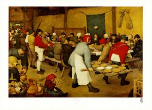 Village Wedding Feast by Pieter Bruegel the Elder