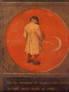 Whatever I Do, I Do Not Repent, I Keep Pissing Against the Moon, C1558-1560 by Pieter Bruegel the Elder