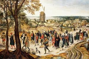 A Wedding Procession by Pieter Brueghel the Younger