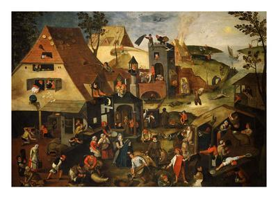 Dutch Proverb Painting, 1580