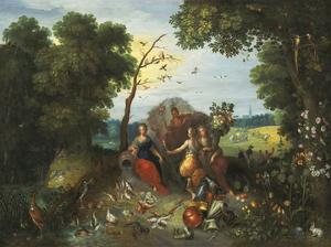 Landscape with Allegories of the Four Elements by Pieter Brueghel the Younger