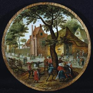 Peasants Dancing around a Tree in a Village Street, 1625 by Pieter Brueghel the Younger