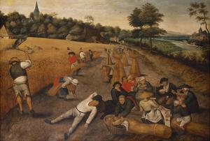 Summer: Harvesters Working and Eating in a Cornfield, 1624 by Pieter Brueghel the Younger
