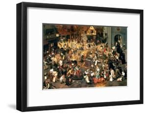 The Battle Between Carnival and Lent by Pieter Brueghel the Younger