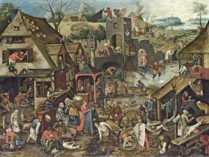 The Flemish Proverbs by Pieter Brueghel the Younger