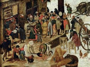 The Payment of the Tithe, or the Census at Bethlehem, Detail, after 1566 by Pieter Brueghel the Younger