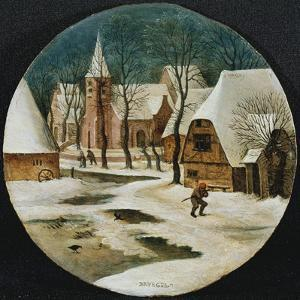 The Village in Winter by Pieter Brueghel the Younger
