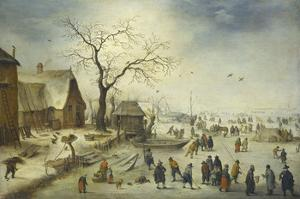 Villagers on the Ice by Pieter Brueghel the Younger