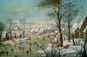 Winter Landscape by Pieter Brueghel the Younger