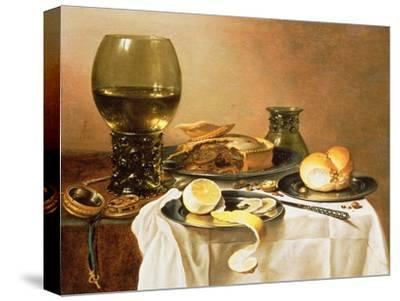 Breakfast Still Life with Roemer, Meat Pie, Lemon and Bread, 1640