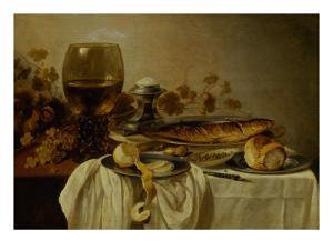Breakfast with Fish and Tankard by Pieter Claesz
