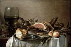 Breakfast with Ham, 1647 by Pieter Claesz