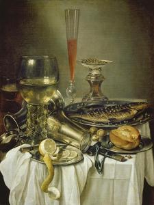 Fruehstuecksstilleben Mit Fisch by Pieter Claesz