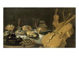 Nature morte aux instruments de musique by Pieter Claesz