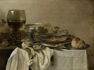 Still Life with a Fish, 1647 by Pieter Claesz