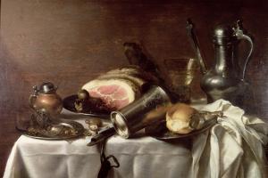 Still Life with a Ham by Pieter Claesz
