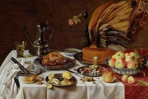 Still Life with a Peacock Pie, 1627 by Pieter Claesz