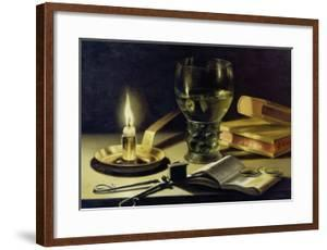 Still-Life with Burning Candle, 1627 by Pieter Claesz