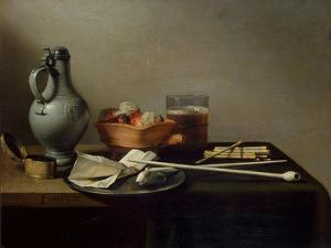 Still Life with Clay Pipes, 1636 by Pieter Claesz