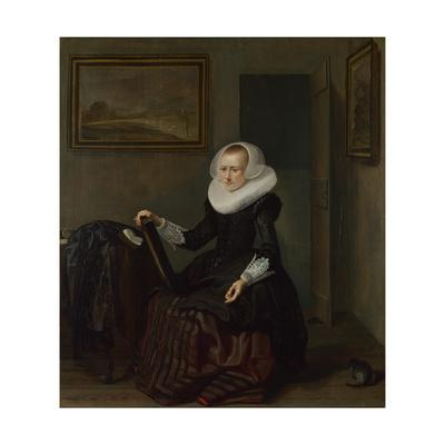 A Woman Holding a Mirror, 1625