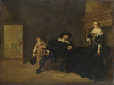 Portrait of a Man, a Woman and a Boy in a Room, 1640
