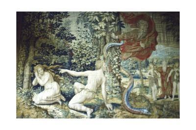 Florence. Adam and Eve after the Fall, Brussels Tapestry, 1548, (20th century)