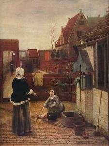 'A Dutch Courtyard', c1658, (1911) by Pieter de Hooch