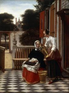 A Mistress and Her Maid, 1660 by Pieter de Hooch