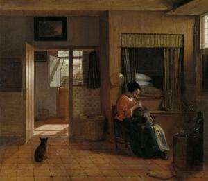 A Mother Delousing her Child's Hair, Known as 'A Mother's Duty', c.1658-60 by Pieter de Hooch