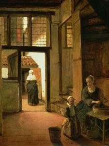 Interior of a Dutch House by Pieter de Hooch