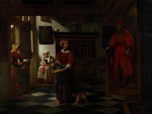 The Asparagus Vendor, 1675-80 by Pieter de Hooch