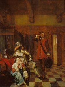The Bearer of Bad News by Pieter de Hooch