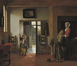 The Bedroom, 1658-90 by Pieter de Hooch