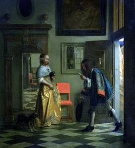 The Messenger, circa 1669 by Pieter de Hooch