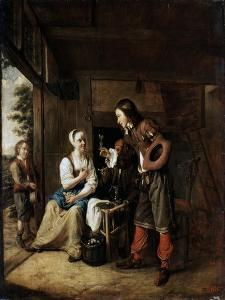 Warrior and Servant, 1653 by Pieter de Hooch