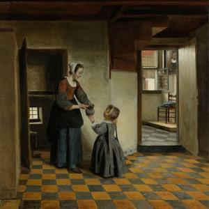 Woman with a Child in a Pantry by Pieter de Hooch