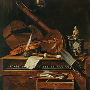 Still Life with Musical Instruments by Pieter Gerritsz. van Roestraten