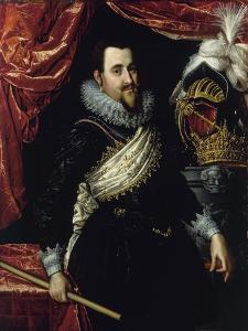 Portrait of King Christian IV of Denmark (1577-164), C. 1615 by Pieter Isaacsz