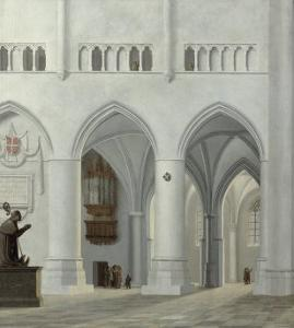 Interior of the Church of St. Bavo, Haarlem, 1630 by Pieter Jansz Saenredam