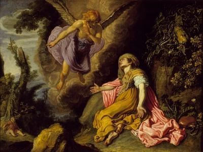 Hagar and the Angel, 1614