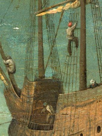 Ship rigging detail from Tower of Babel, 1563
