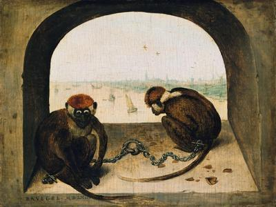 Two Chained Monkeys, 1562